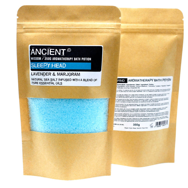 Aromatherapy Bath Potion in Kraft Bag 350g - Sleepy Head