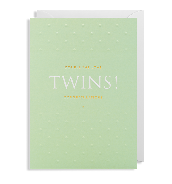 1993 Postco - Twins! Greeting Card - Mrs Best Paper Co.