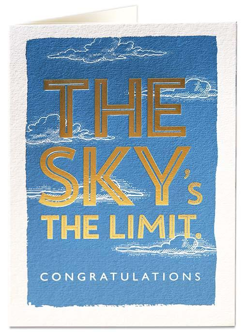 The Sky's The Limit Card QP375