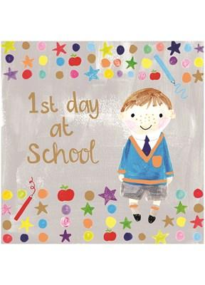 1st Day at School Boy (CT1727) - Mrs Best Paper Co.