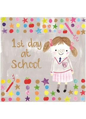 1st Day at School Girl (CT1728) - Mrs Best Paper Co.