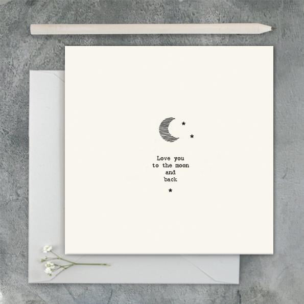 2473 Square Card - Moon/ Love You To The Moon