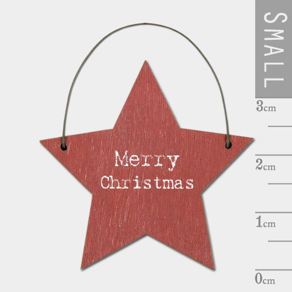 Merry Christmas Small Red Star Decoration