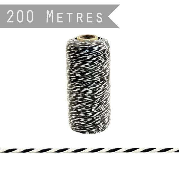 3017 - 200m Bakers Twine Black