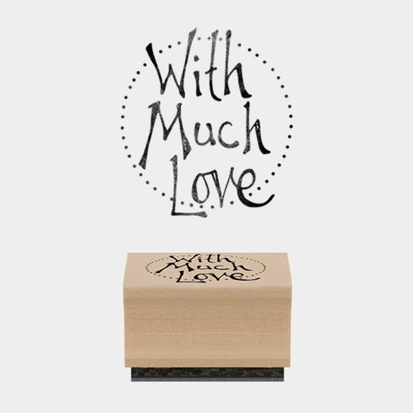 3654 - Rubber Stamp- Round With Much Love
