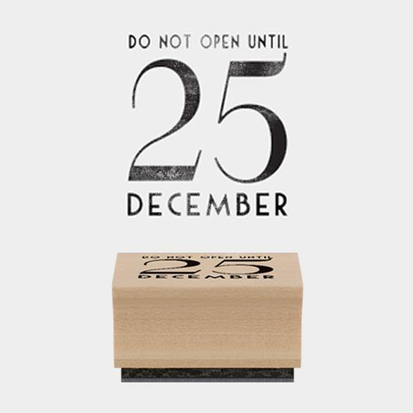 Rubber stamp - Do not open until - Mrs Best Paper Co.