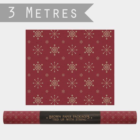 Roll of Kraft paper-Snowflakes - Mrs Best Paper Co.