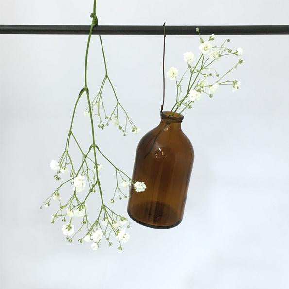 4009W Hanging wired bottle-Brown / round