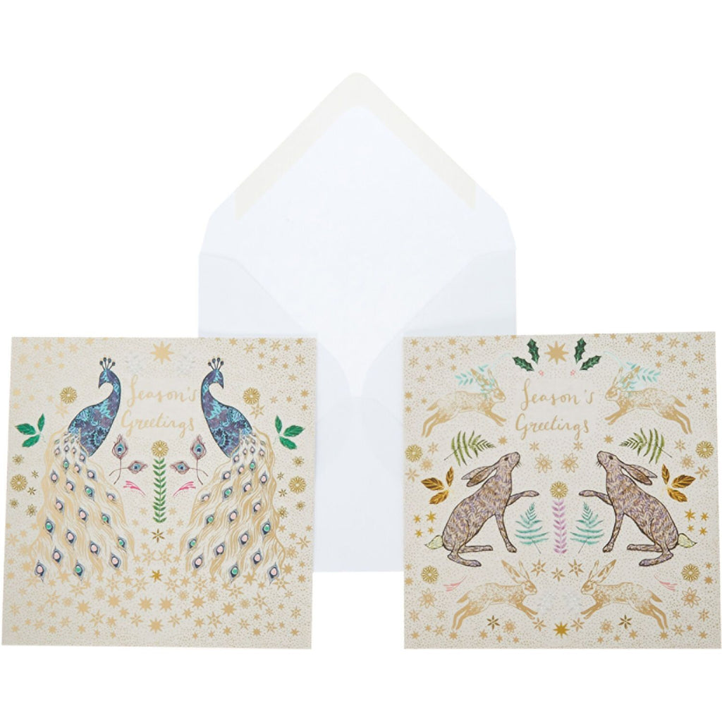 The Art File Christmas Cards Peacock & Hare