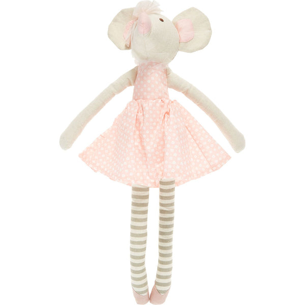 Orange Tree Toys - Beige & Pink Mouse Soft Toy