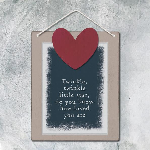 Sml wood sign - Twinkle little star