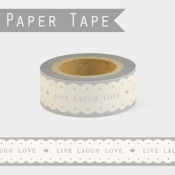 Scalloped paper tape - Live, Laugh, Love
