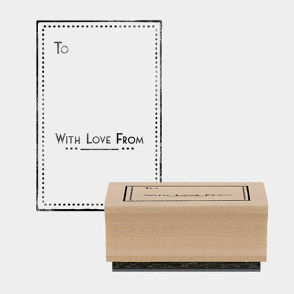 3769 Rubber Stamp With Love From