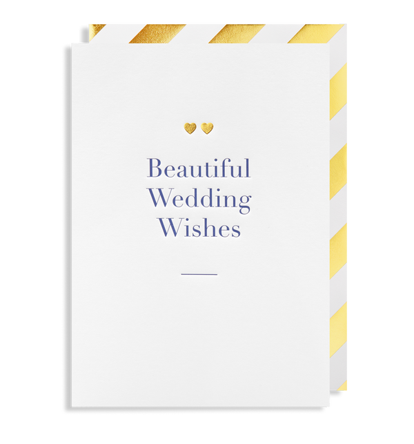 6033 Charm - Beautiful Wedding Wishes - Mrs Best Paper Co.
