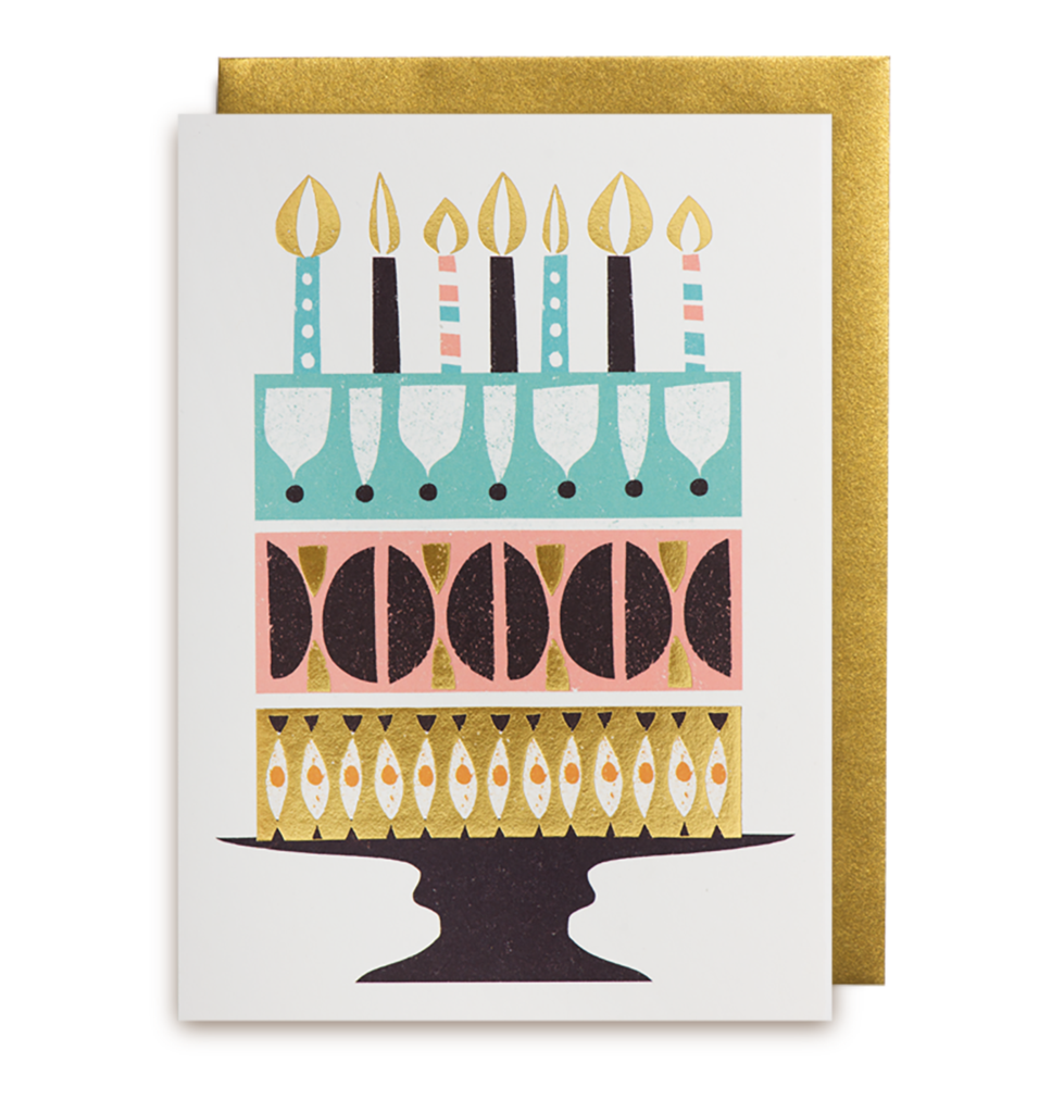 606 Debbie Powell - Cake Card Happy Birthday - Mrs Best Paper Co.