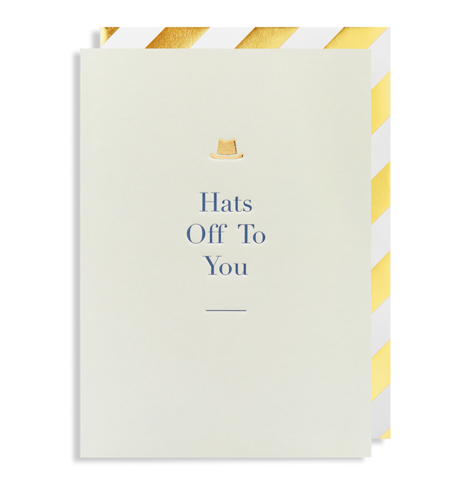6108 Charm - Hats off to You Greeting Card - Mrs Best Paper Co.