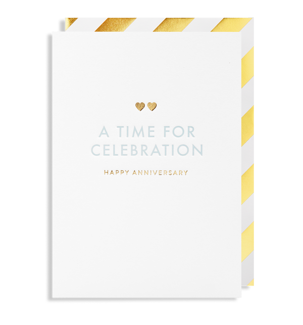 6166 Postco - A Time for Celebration Happy Anniversary Card - Mrs Best Paper Co.
