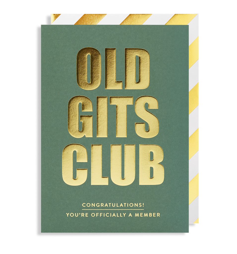 6171 Postco - Old Gits Club Happy Birthday Greeting Card - Mrs Best Paper Co.