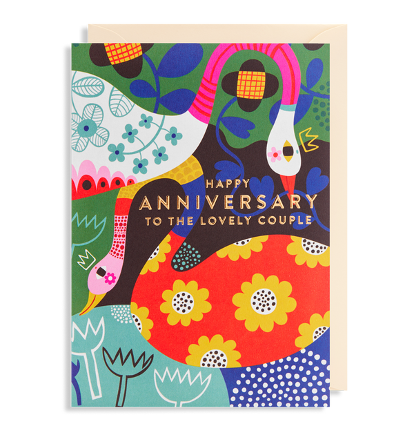 6269 Helen Dardik - Happy Anniversary to The Lovely Couple Greeting Card - Mrs Best Paper Co.