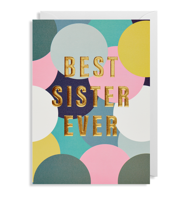 6413 Postco - Best Sister Ever Card - Mrs Best Paper Co.