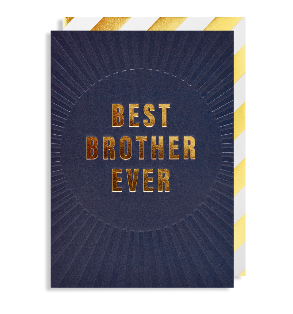 6422 Postco - Best Brother Ever Card - Mrs Best Paper Co.