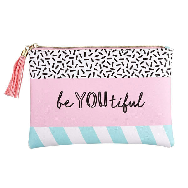 Memphis Modern Be You Beautiful Pouch - Mrs Best Paper Co.