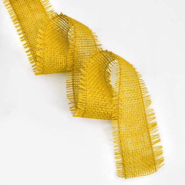 Yellow Jute Ribbon - 10mtrs x 6cms