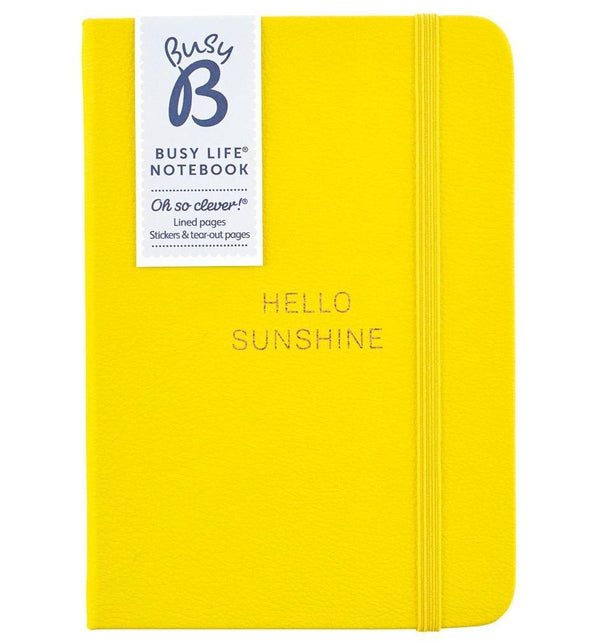 BUSY LIFE NOTEBOOK - A6 FAUX YELLOW - Mrs Best Paper Co.