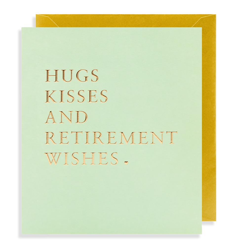 9006 - Hugs Kisses & Retirement Wishes Greeting Card