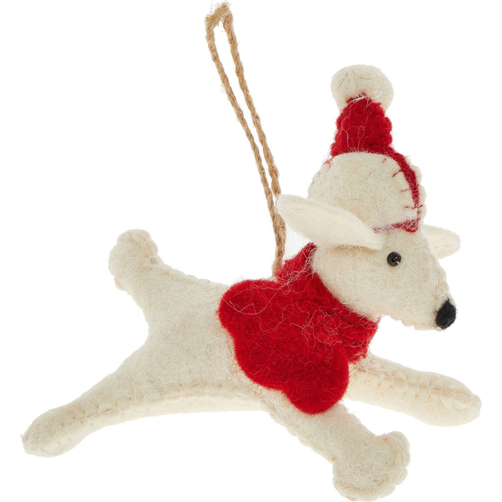 Wool Dog Hat Christmas Decoration