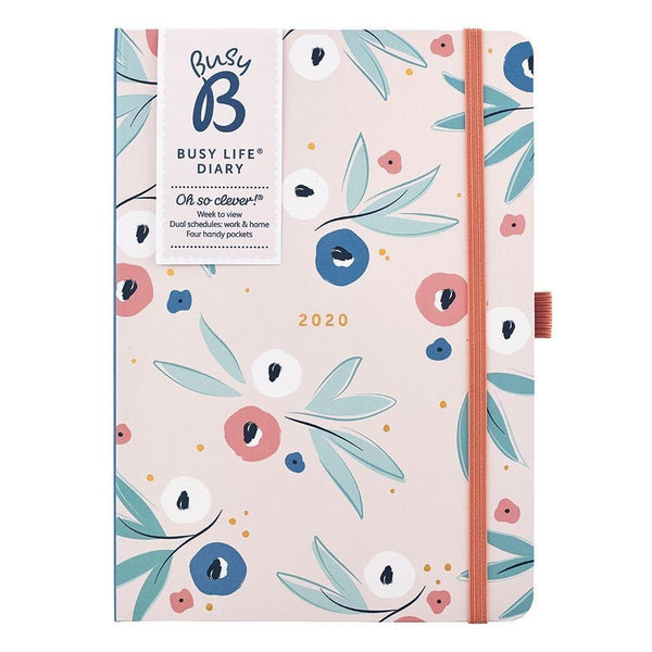 BUSY LIFE DIARY 2020 - BREEZY BLOSSOMS - Mrs Best Paper Co.