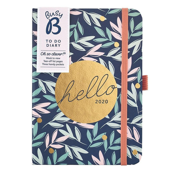 A6 TO DO DIARY 2020 - BREEZY BLOSSOMS - Mrs Best Paper Co.