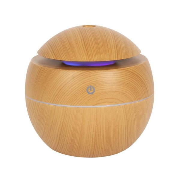 Small Round Wood Grain Aroma Diffuser Atomiser