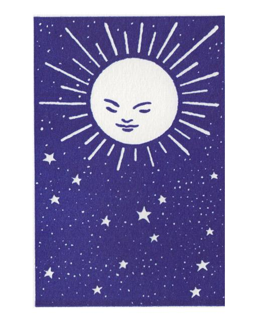 Pack of 5 Mini Cards - Moon