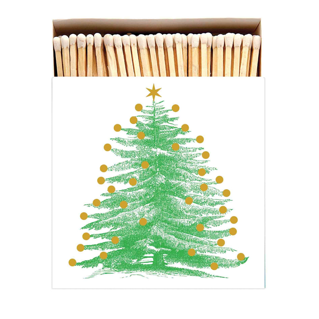 Christmas Tree Letterpress Printed Luxury Matches - Mrs Best Paper Co.