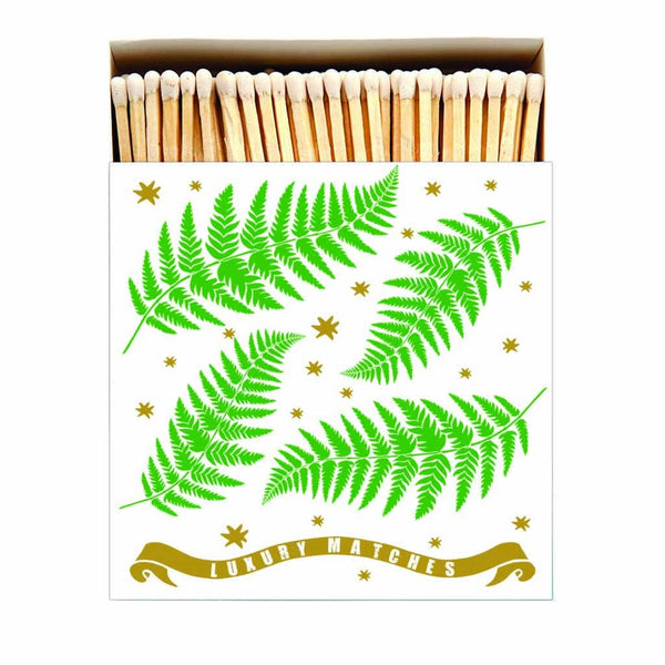Fern with Gold Letterpress Printed Luxury Matches