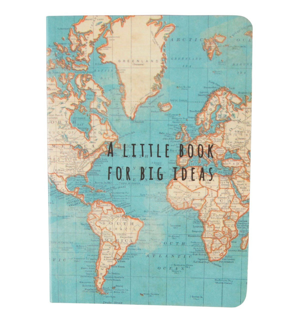Vintage Map Big Ideas Pocket Notebook