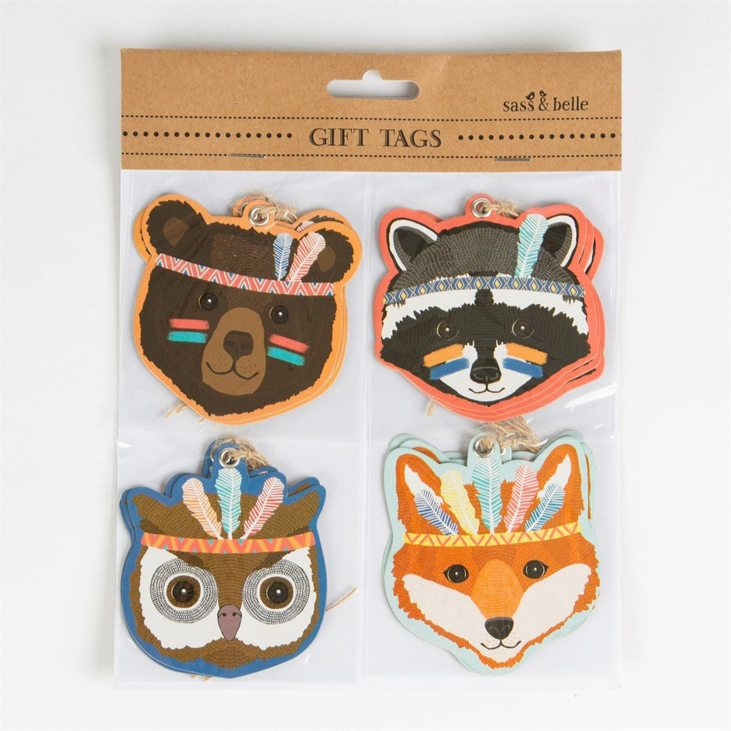 Animal Adventure Gift Tags - Set Of 12 Pcs