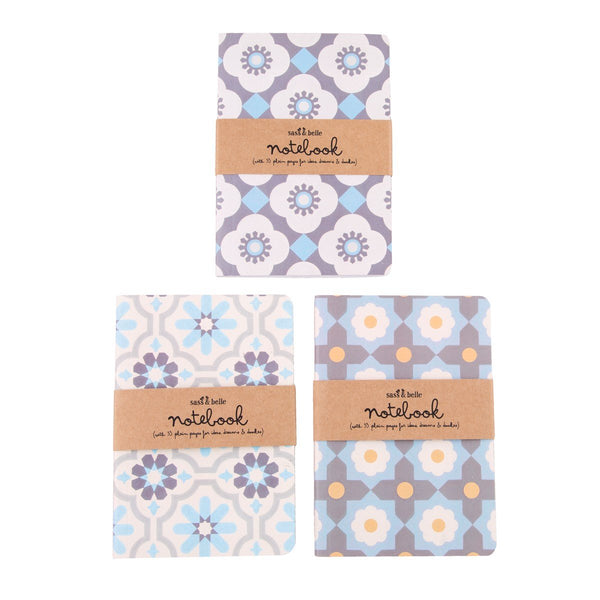 Mediterranean Mosaic Pocket Notebook - Mixed Patterns