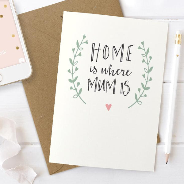 Home Is Where Mum Is Card