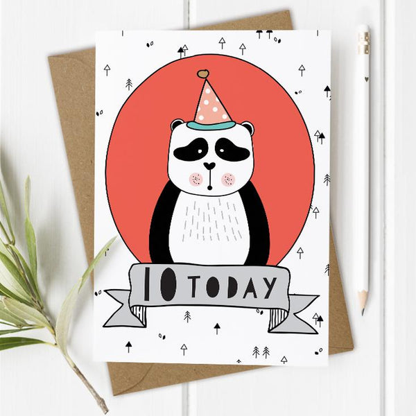 Age 10 Birthday Card - Panda