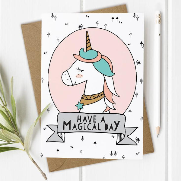Unicorn Children's Birthday Card