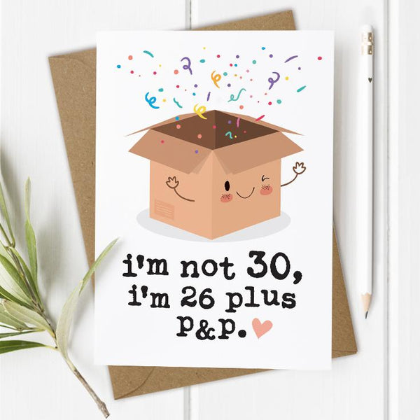 Funny 30th Birthday Card
