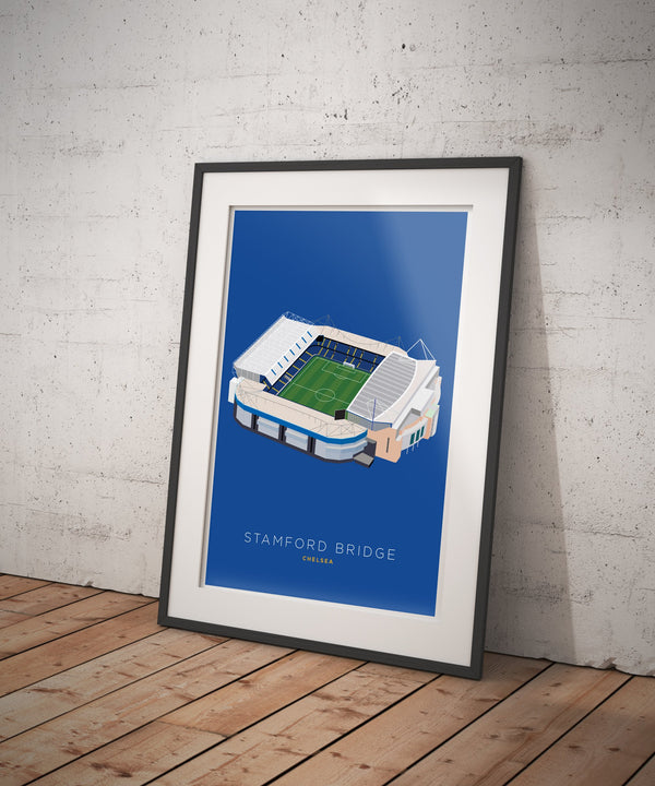 A4 Chelsea Football Stadium Print / Poster