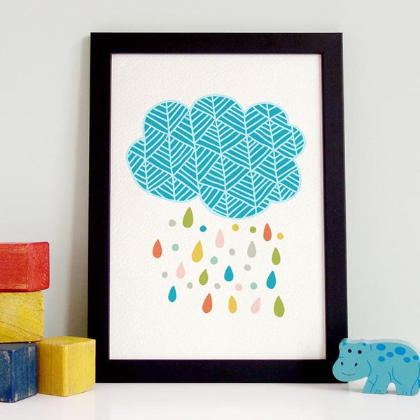 Herringbone Cloud Print
