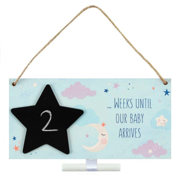Baby Arrival Countdown Plaque - Mrs Best Paper Co.
