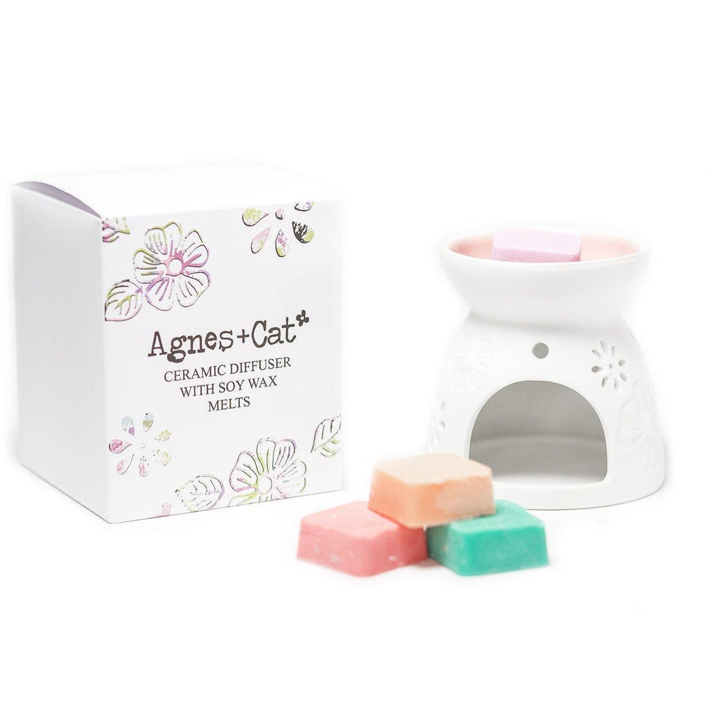 Ceramic Aroma Diffuser Atomiser with Soy Wax Melts - Mrs Best Paper Co.