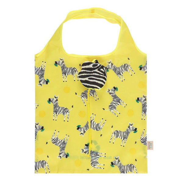 ZIGGY ZEBRA FOLDABLE SHOPPING BAG - Mrs Best Paper Co.