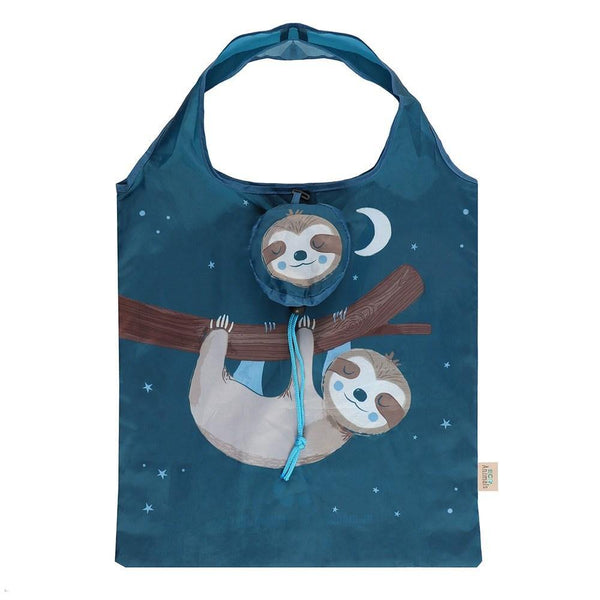 SIDNEY SLOTH FOLDABLE SHOPPING BAG - Mrs Best Paper Co.