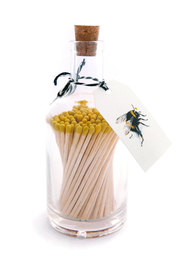 Glass Bottles of Extra-Long Matches - Bee